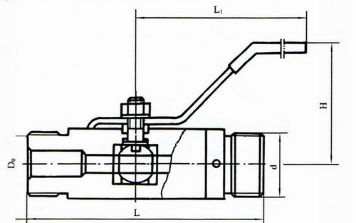 供应英科牌q21f外螺纹球阀图片